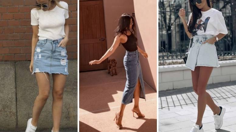 Bezvremenski komad: Evo kako sve kombinirati traper suknju