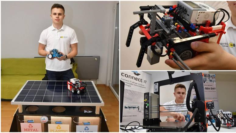 Genijalac Roko (16) osmislio je naše 'pametne kante za smeće'