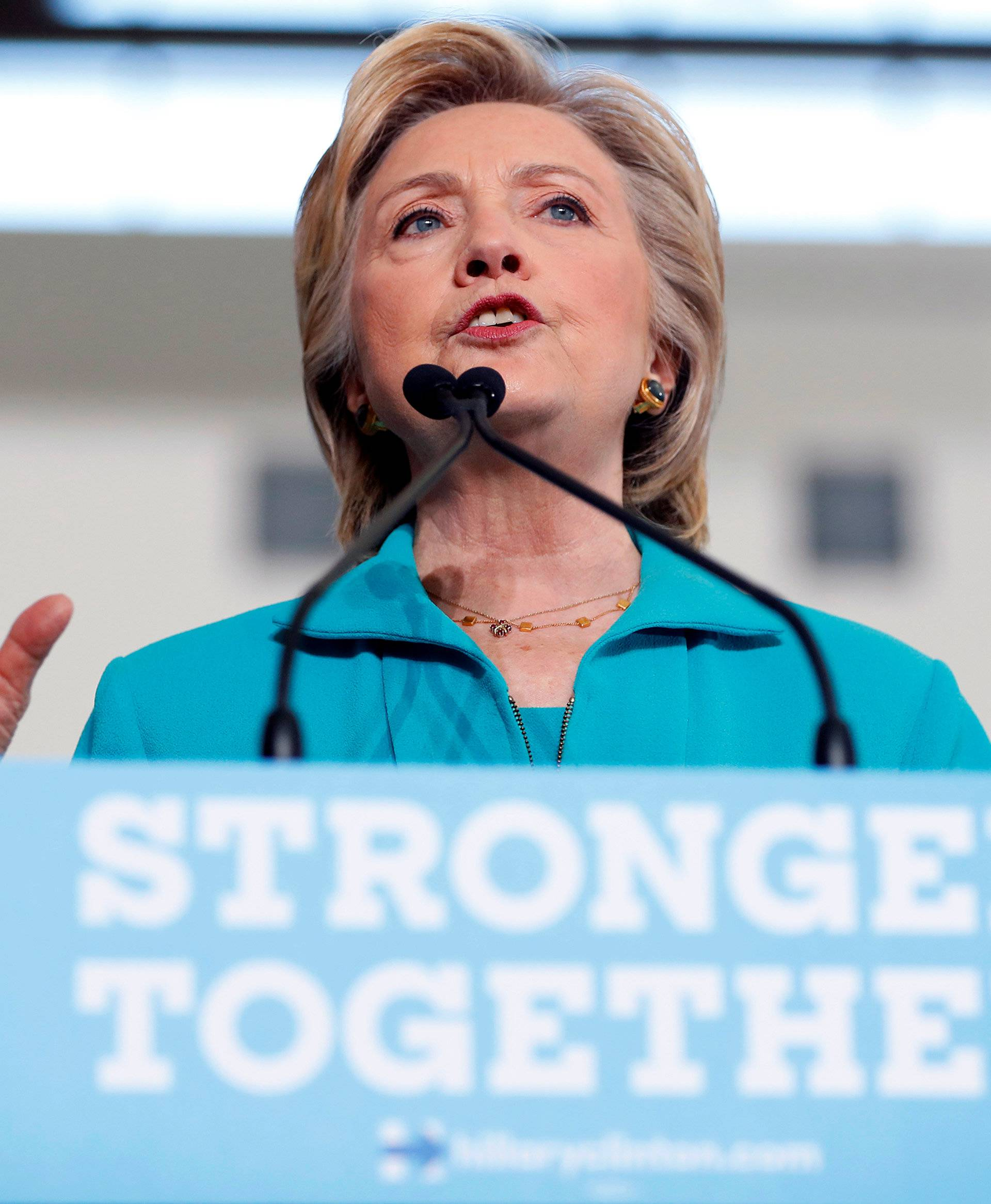 Democratic presidential nominee Hillary Clinton speaks at a rally at Truckee Meadows Community College in Reno