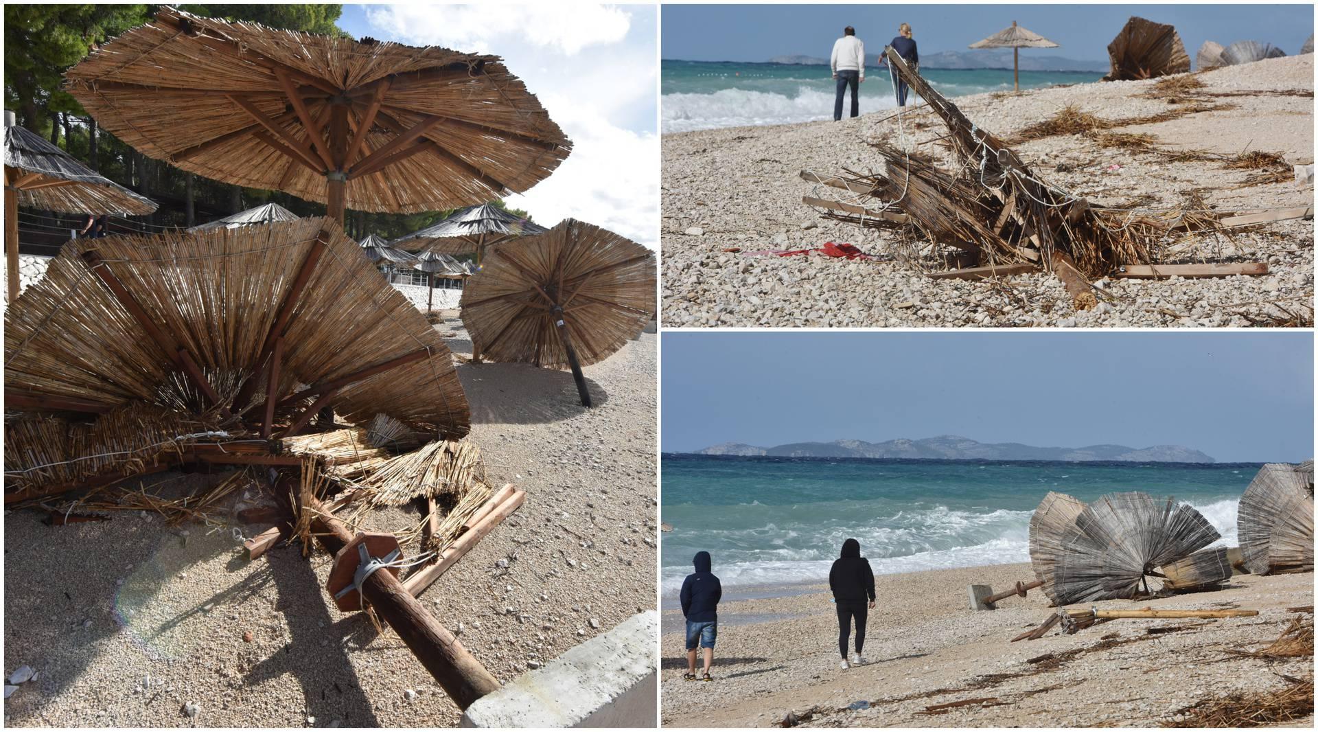 Jako nevrijeme u Primoštenu uništilo plažu, zbraja se šteta