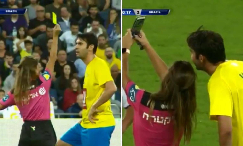 Sutkinja Kaki dala žuti karton pa 'okinula' selfie na utakmici