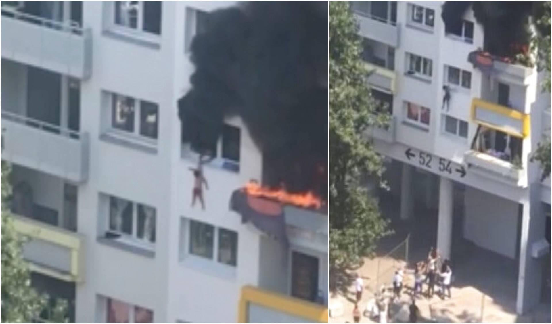 Braća se spasila od požara: S 3. kata skočili u naručje susjedima