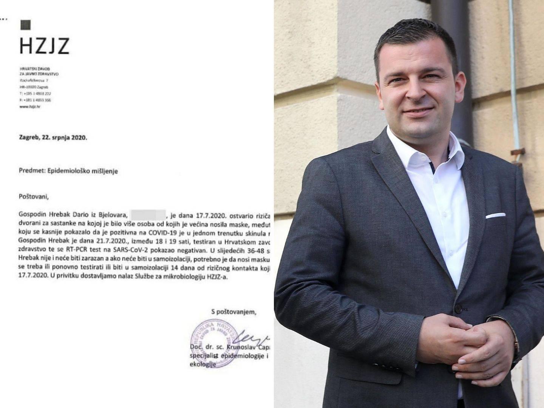 Liječnici zgroženi: Capak je potpisao Covid nalaz Hrebaku jer je morao glasati u Saboru?