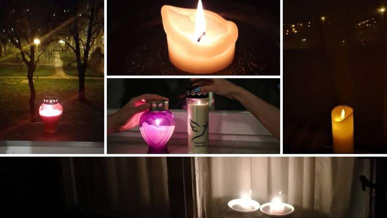 Građani na prozorima zapalili svijeće za preminulu djevojčicu