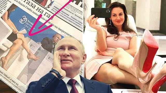 'Namazala se uljem. Ni čarape nije navukla': Tko je voditeljica koja je nogama zbunila Putina?