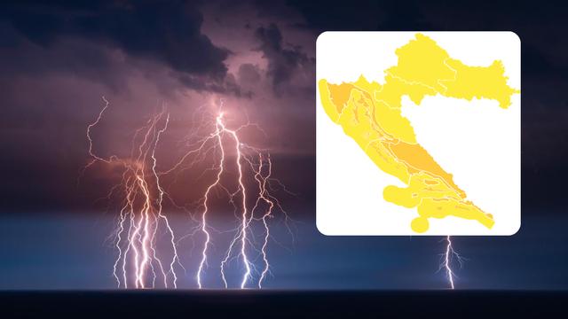 Narančasti meteoalarm sutra se pali na obali: Moguće tuče i oluje, najgore će biti u Kninu