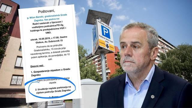 Bandić uvodi naplatu parkinga za cijeli Zagreb: 'To je harač...'
