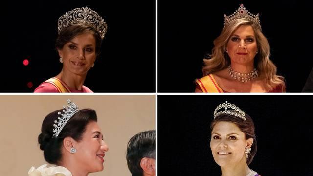 Princeze i kraljice pokazale sve raskošne tijare na ustoličenju