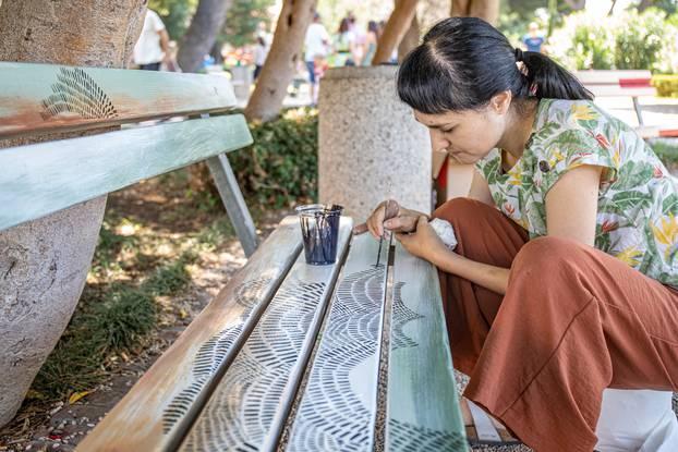 Dubrovnik: Street Art Park, oslikavanje klupa i izlžzba u parku