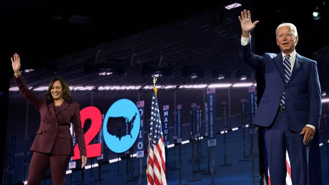U.S. Senator Kamala Harris accepts the Democratic vice presidential nomination