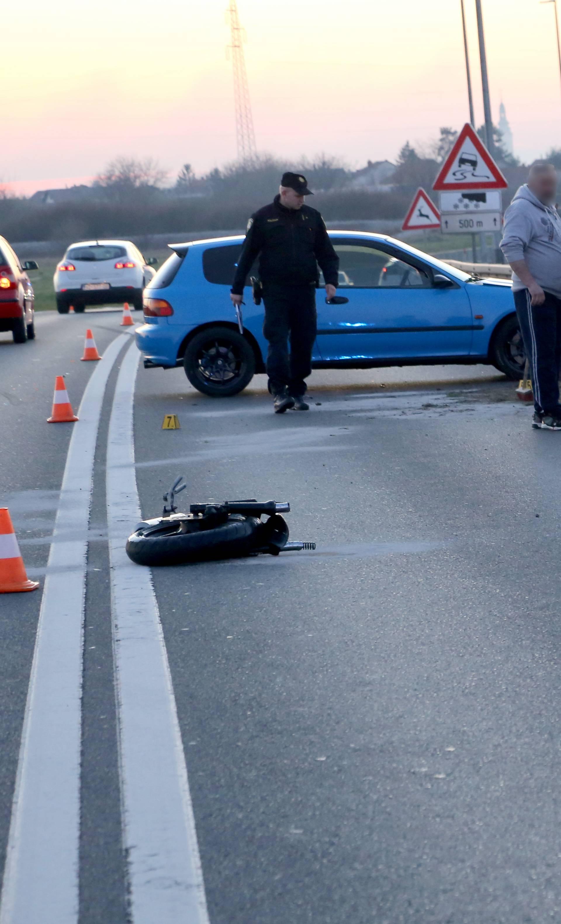 Teža nesreća kod Čakovca: Vozač motocikla je u bolnici