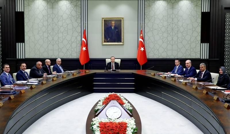 Turkish President Erdogan chairs a cabinet meeting in Ankara