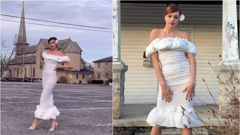 Sašila je vjenčanicu od pelena, a sada joj treba još mladoženja