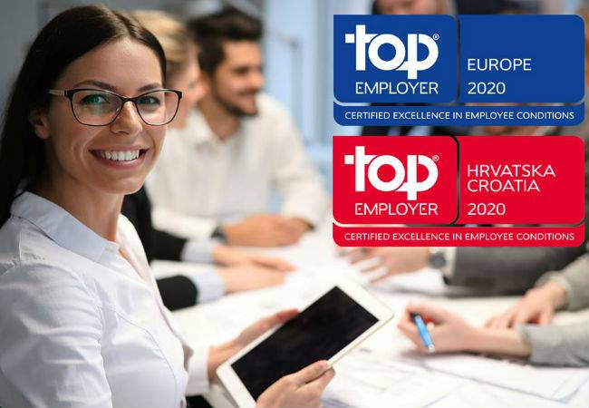 Zagrebačka banka ponovno Top Employer Croatia i Europe 2020
