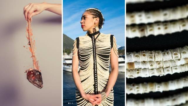 Napravila je haljinu od 20.000 lososovih kostiju - predivna je