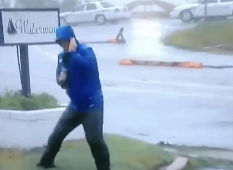 Internet se sprda s reporterom koji je jedva stajao na vjetru