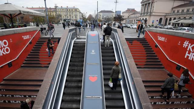 Zagreb: Jedan trak pokretnih stepenica u Importanne centru vraćen u promet