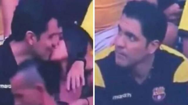 Poveo ljubavnicu na utakmicu Barce pa ga razotkrile kamere
