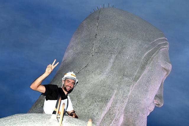 Čilić se popeo na vrh Kristova kipa u Riju: Srce kuca kao ludo