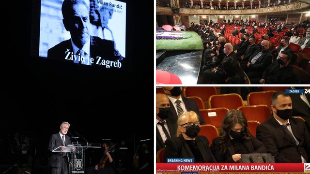 Komemoracija povodom smrti Bandića, žena i kći u suzama: 'Milan je bio najbolji otac'