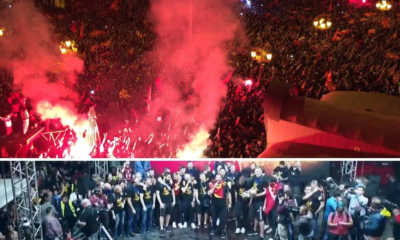 Čudesan doček za Karu i ekipu! 250.000 ljudi feštalo u Skoplju