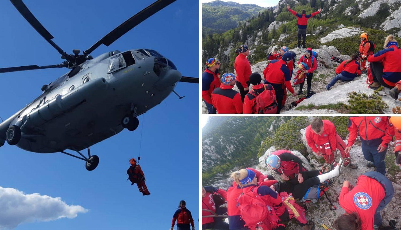 Drama podno Velebita: HGSS spasio planinarku helikopterom