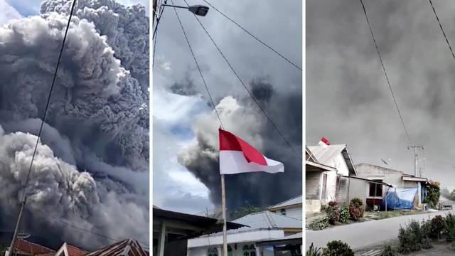 Mrak nad Sinabungom: Vulkan  izbacio golem oblak pepela