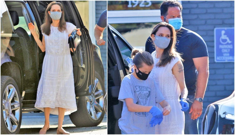 Angelinu 'ulovili' nakon što se mjesecima skrivala od javnosti: Pažnju privukao tjelohranitelj