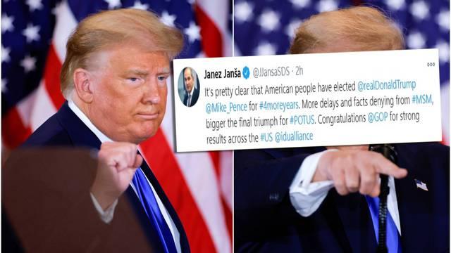 Nitko još ne zna, ali Janša zna: Već čestitao Trumpu na pobjedi