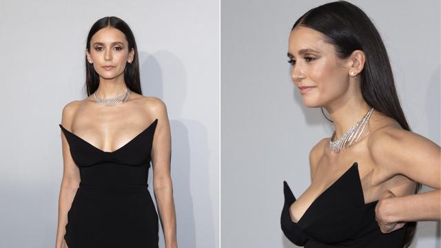 Glumica Nina Dobrev pokazala je raskošan dekolte u Cannesu