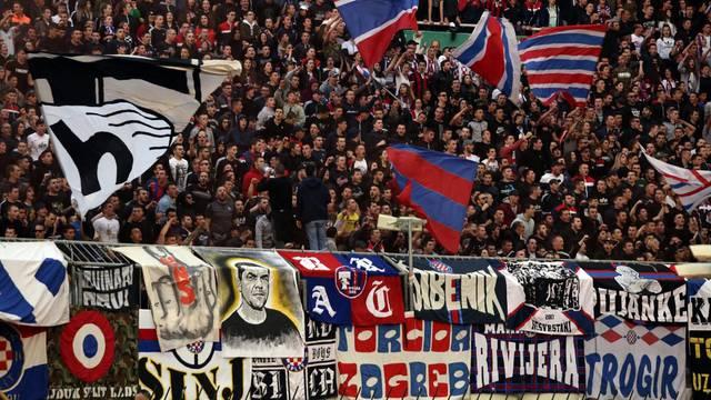 Split: Atmosfera na utakmici 27. kola HT Prve HNL između Hajduka i Dinama