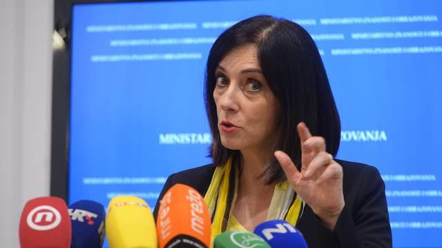 Zagreb: Ministrica Blaženka Divjak izvjestila o novostima u odgoju i obrazovanju