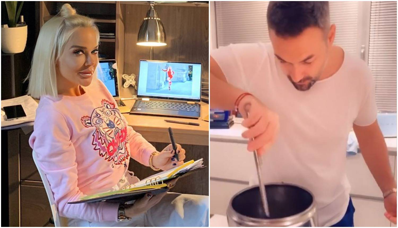 Dok Maja radi u kućnom uredu, muž Nenad je tetoši s juhicama