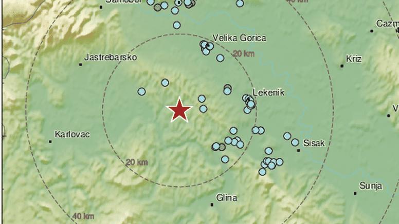 Potres jačine 2,3 po Richteru se osjetio na području Banovine