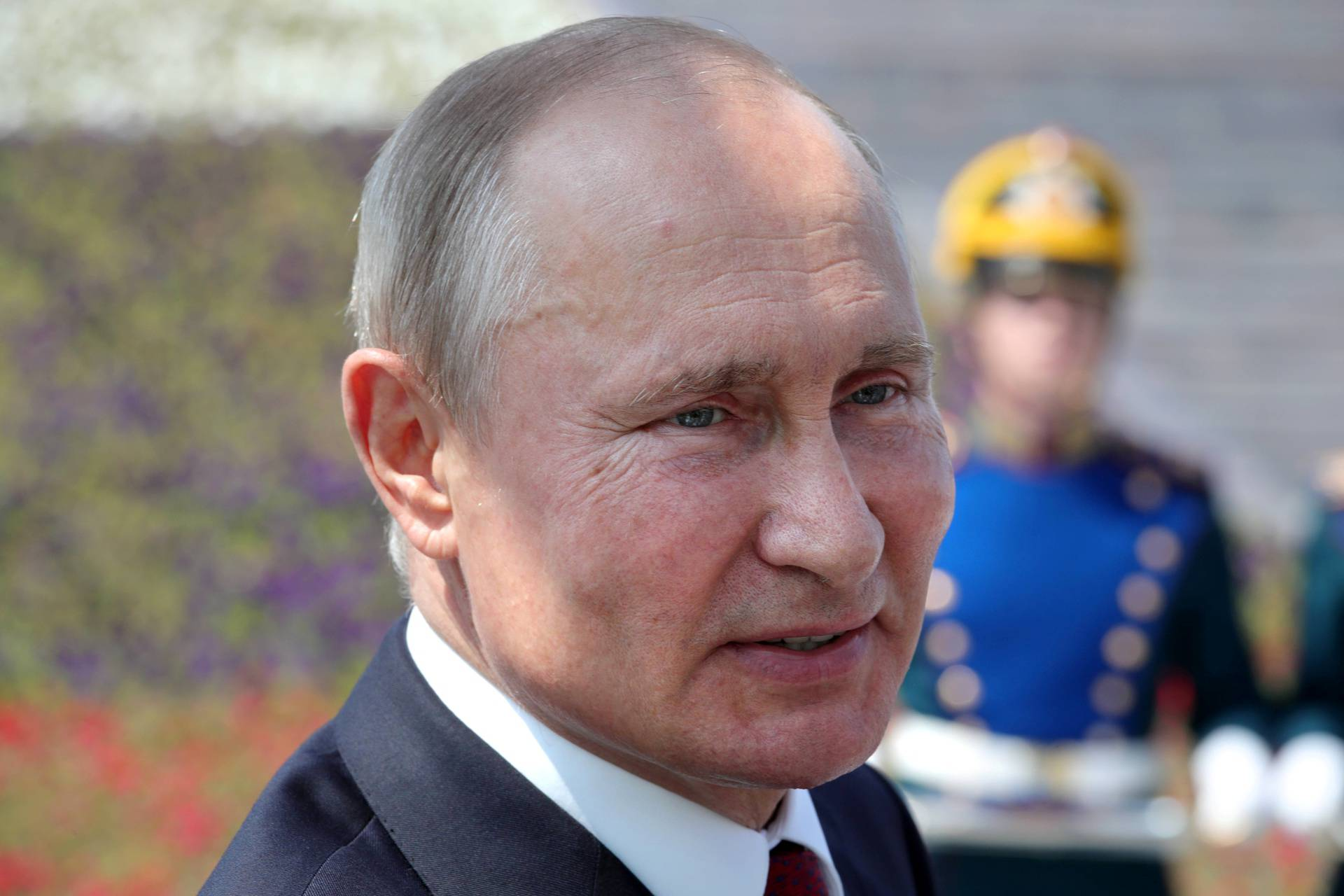 Russian President Vladimir Putin attends an awards ceremony marking Russia Day in Moscow