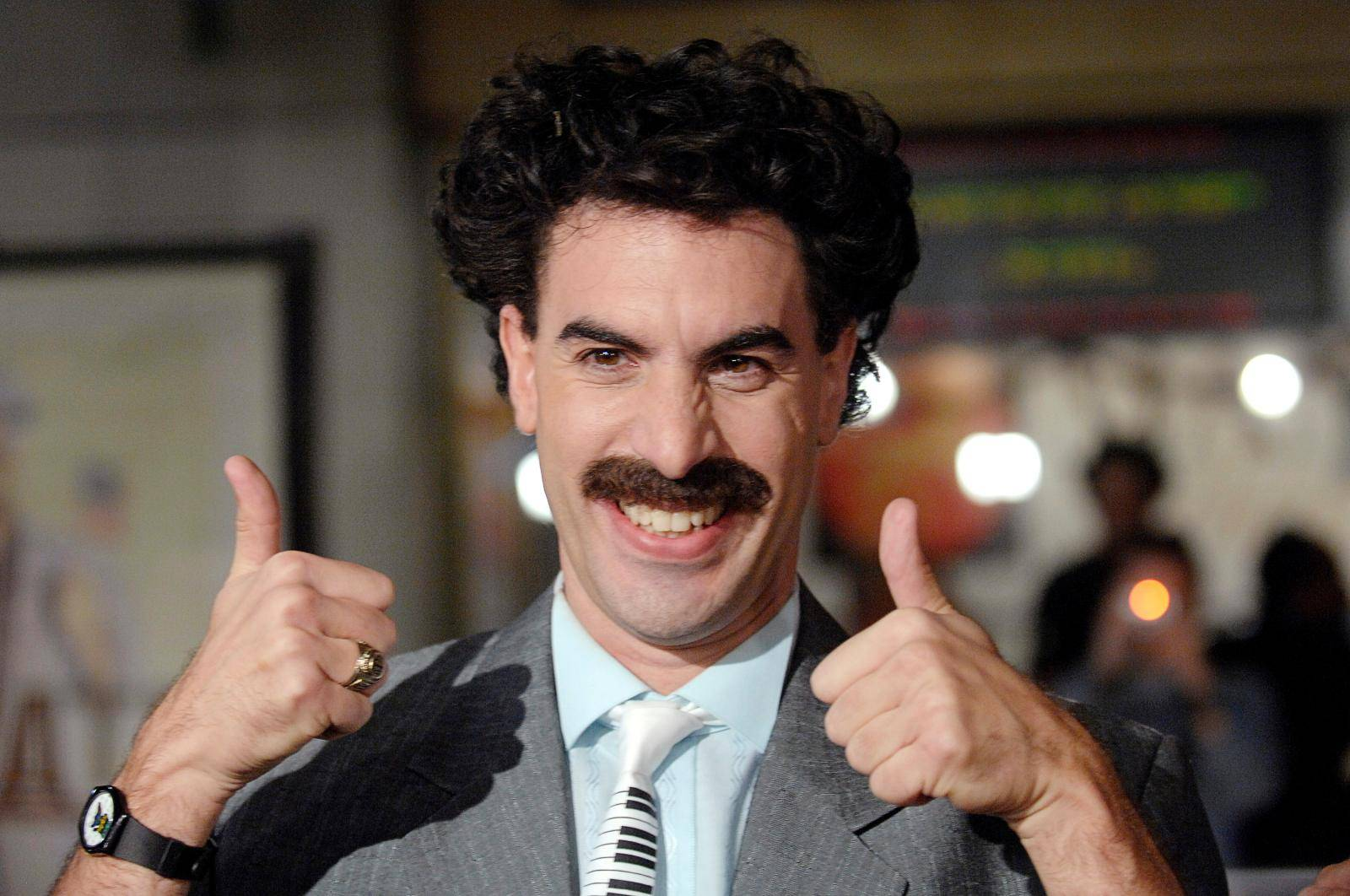 "FILE PHOTO: Actor Sacha Baron Cohen arrives for premiere of ""Borat: Cultural Learnings of America for Make Benefit the Glorious Nation of Kazakhstan"" in Hollywood"