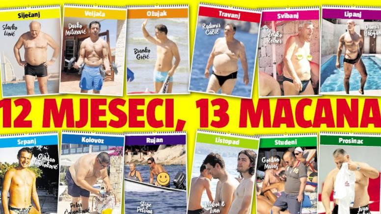 Vrući kalendar razgolićenih političara: Od njihovih mišića nemamo baš nikakve koristi