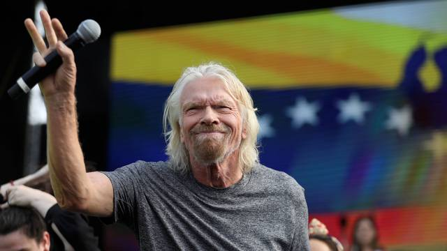 "Sir Richard Branson attends the ""Venezuela Aid Live"" concert near the Tienditas cross-border bridge between Colombia and Venezuela, in Cucuta"
