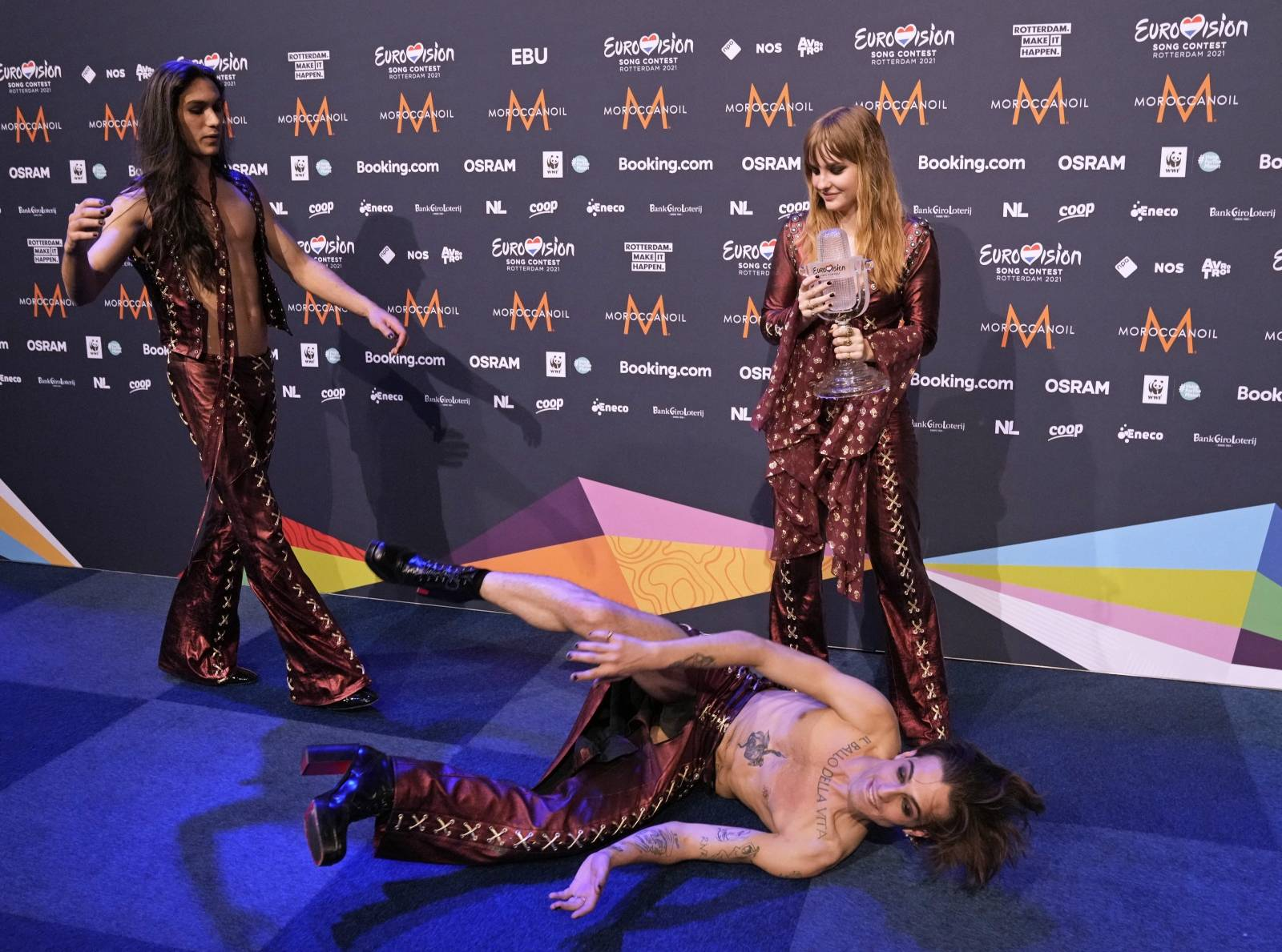 Winner Euro Vision Songcontest 2021 - Maneskin uit Italie - Rotterdam