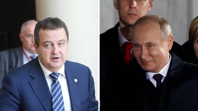 Ivica Dačić pjevao Putinu dvije pjesme - Kaljinku i Rjabinušku
