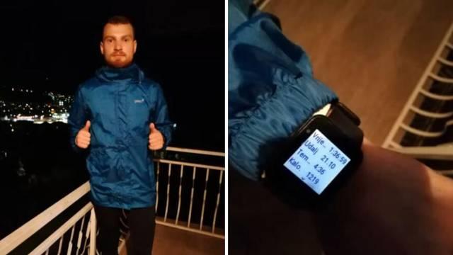 Bosanac istrčao polumaraton na balkonu dugom 7,5 metara