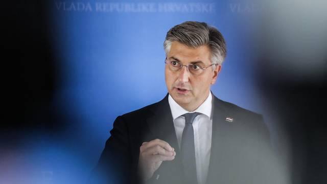 Zagreb: Premijer Andrej Plenković obratio se medijima nakon završetka sjednice Vlade