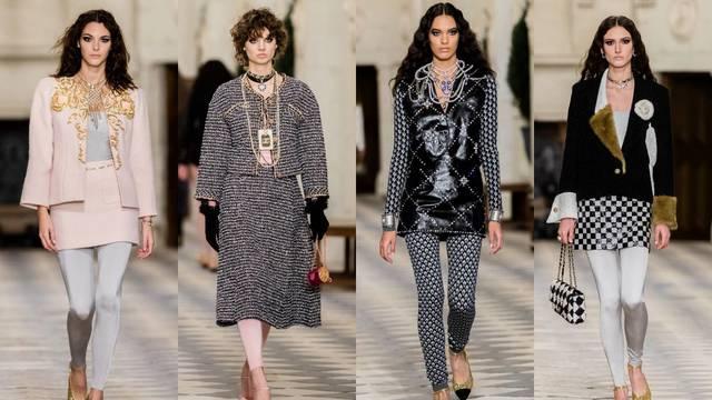 Chanel prelaže svilene tajice i chic pleteninu sa zlatnim nitima
