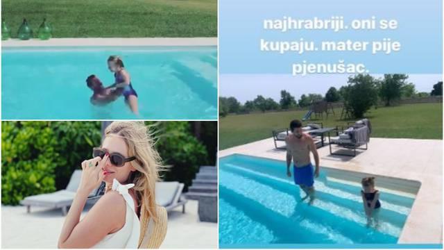 Sobin i Nižetić uživali s Lenom u bazenu, Veljača pila pjenušac