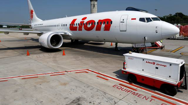 FILE PHOTO: A Lion Air Boeing 737 Max 8 airplane on the tarmac of Soekarno Hatta International airport near Jakarta
