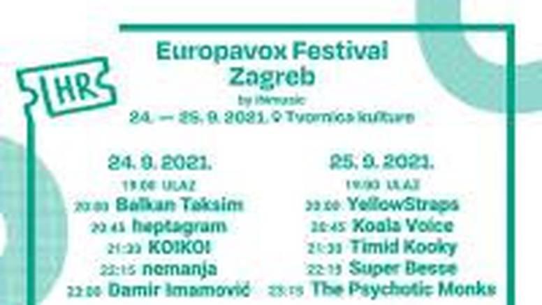 Europavox festival ovaj vikend počinje u Tvornici kulture