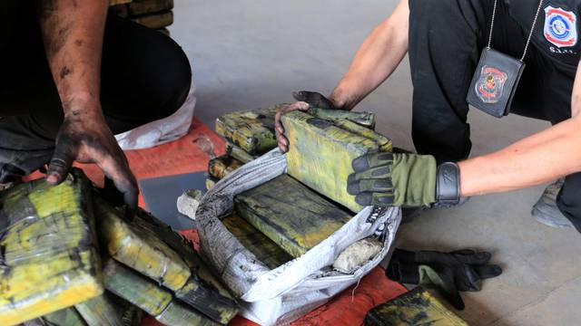 Paraguay police seize cocaine haul hidden in charcoal