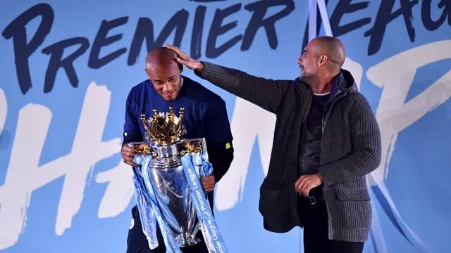 Manchester City Premier League Champions Celebration - Etihad Stadium
