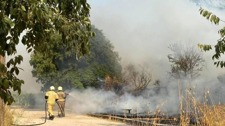Požar u Splitu: Gorjelo u blizini obiteljskih kuća na Firulama