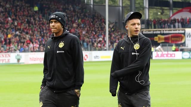 firo: 05.10.2019 Football, Football: 1. Bundesliga SC Freiburg - BVB Borussia Dortmund
